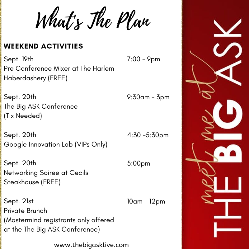 Wondering what's going on for The Big ASK Conference weekend.